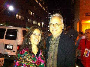 With Bill Frisell after the Joni show. Just cuz.
