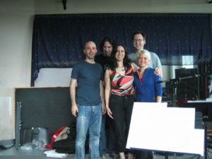 Recording Little Rome, 2004. Romina, David, Andrew, Julia Wedman, and Davide DiRenzo.